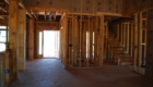 New Construction House Being Framed In