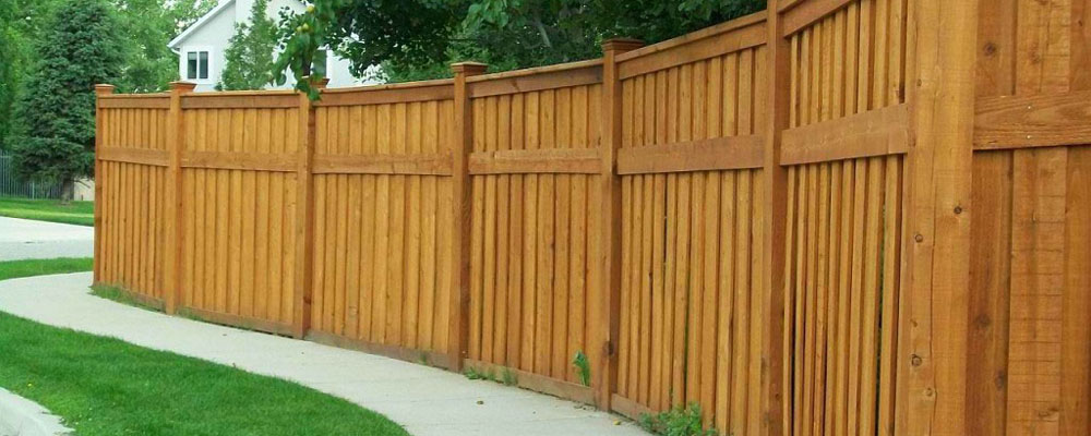 Custom Cedar Wood Fence