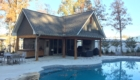 Outdoor Pool House with Outdoor Kitchen