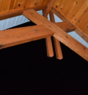Rough cut exposed Cedar Beams