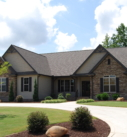 Willow Home Model Exterior with Sweeping Drive