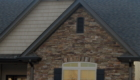 Close up detail on the stone colors that compliment the Willow Home Plan