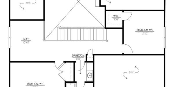 Walnut Home Model 2nd Floor Plan Drawing