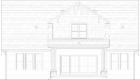 Walnut Home Model Rear Elevation Drawing