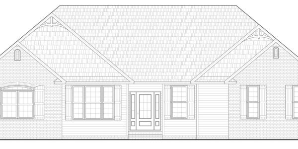 Aspen Home Model Front Elevation Blue Print