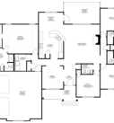 Birch Home Model Floor Plan Blue Print