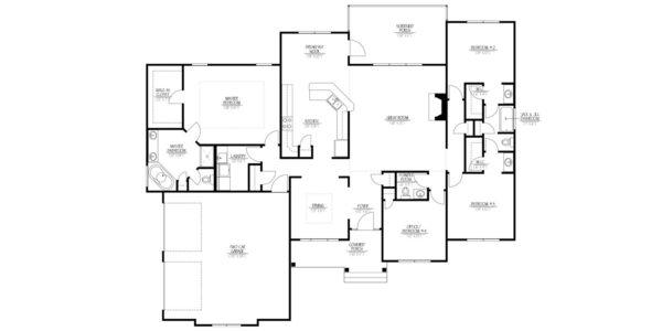 Birch Home Model Floor Plan Blue Print