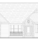 Birch Front Elevation Blue Print