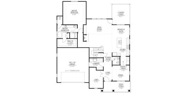 Black Cherry First Floor plan Blue Print