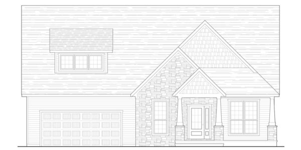 Black Cherry Front Elevation Blue Print