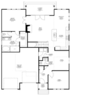 Magnolia Custom Home Model First Floor Plan Blue Print