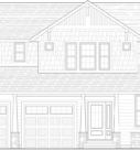 Magnolia Custom Home Model Front Elevation Blue Print