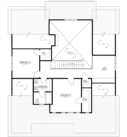 Magnolia Custom Home Model Second Floor Plan Blue Print