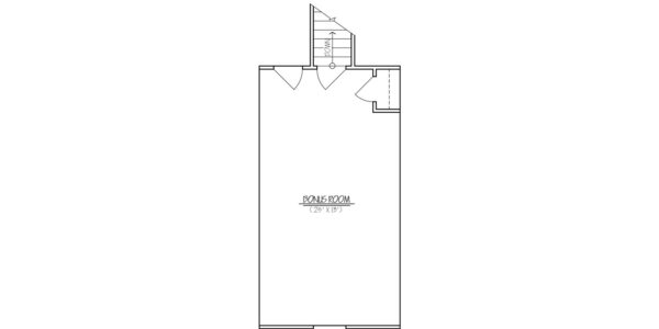 Maple Custom Home Model Bonus Room Floor Plan Blueprint