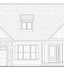 Maple Custom Home Model Front Elevation Blueprint