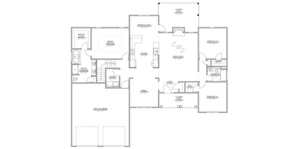 Maple Home Model Floor Plan Blue Print