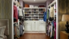 MasterSuite with Solid Wood Fronts and shoe shelves in Antique White