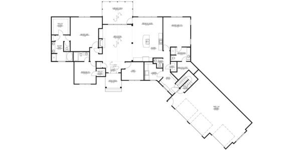 Mountain Ash Custom Model Home Floor Plan Blue Print