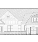 Mountain Ash Custom Home Plan Front Elevation Blue Print