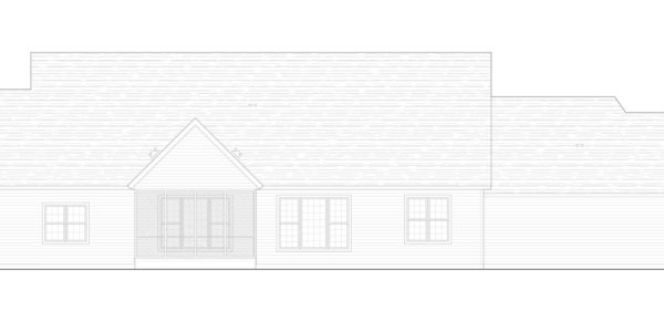 Mountain Ash Custom Model Home Rear Elevation Blue Print