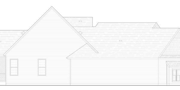 Mountain Ash Custom Model Home Side Elevation Blue Print