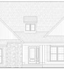 Custom Home Oak Model Elevation Blue Print