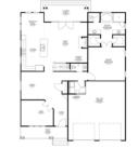 Walnut Custom Home Model First Floor Floor Plan Blue Print