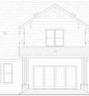 Walnut Custom Model Home Plan Rear Elevation Blue Print