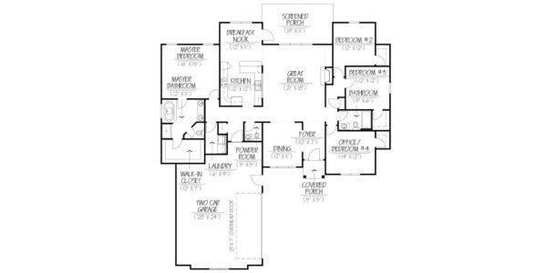 Cedar Custom Model Home Floor Plan Blue Print