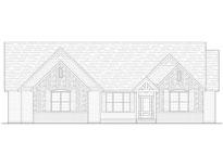 Cedar Custom Model Home Front Elevation Blue Print