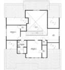 Walnut Custom Home Model First Floor Floor Plan Blue Print