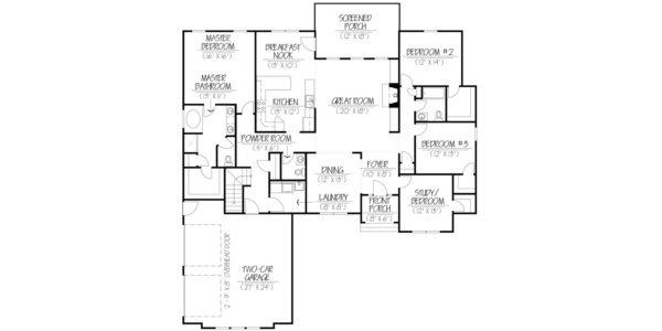 Dogwood Custom Home Builder Floor Plan Blueprint