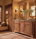 Kraftmaid Maple Bathroom in Ginger with Sable Glaze