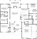 Willow Custom Home Model Floor Plan Blue Print