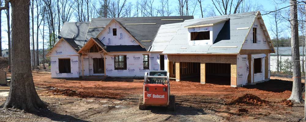 Dream home being built on owners property