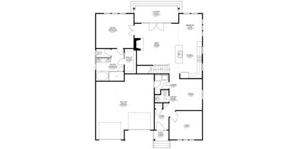 Walnut B Home Model First Floor Floor Plan