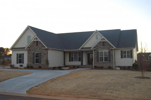 Magnolia custom model home front view