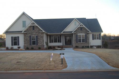 Magnolia custom model home front view from street