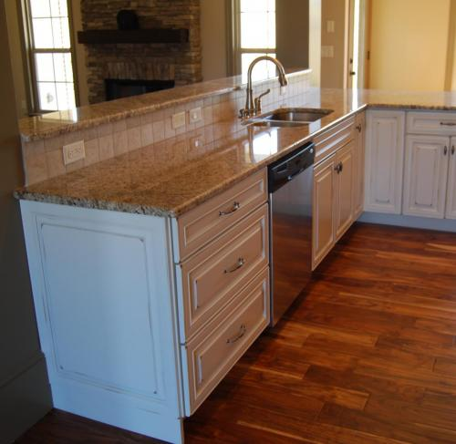 Oak Custom Home Model Kitchen
